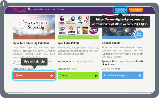 Digiturk Play Super Lig Paketleri